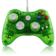 Xbox 360 Wired Led Green Controller Pad New Hexir Wired Glow Gamepad Pc Usb