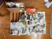 Incredible Vintage Fly Fishing Chest And 90+ Discontinued Feathers And Hooks And Tools