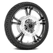 For Harley-davidson Road King 08-19 Fierce Front Wheel Kit W Tires And Rotors