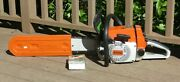 Vintage New Stihl 026 Chainsaw With 2 Chains Manual Never Fueled
