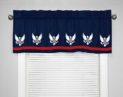 Americana Usa Presidential Red White And Blue Window Valance - Choice Of Colors