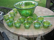 Punch Bowl Holds Around 7 Quarts Of Liquid And Stands Approx. 7-1/4 High And 12
