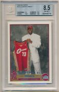 Lebron James 2003/04 Topps 221 Rc Rookie Cleveland Cavaliers Sp Bgs 8.5 Nm-mt+
