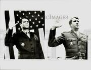 1989 Press Photo Oliver North And David Keith As Oliver North In Guts And Glory