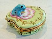 Frog On Lily Pad - - Authentic Limoges Box