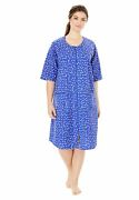 Dreams And Co. Womenand039s Plus Size Short French Terry Zip-front Robe