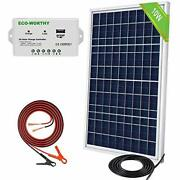10w Solar Panel Kit 10w 12v Off Grid- S. Panel With Charge Controller And Battery✅