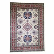 11and0398x16and0396 Oversize Ivory Super Kazak Pure Wool Hand Knotted Rug R45315