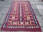 Fine Antique Hand Made Traditional Turkish Red Blue Wool Large Kilim 257x153cm