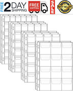 10 Sheet Stamp 42 Pocket Pages Plastic Holder Currency Protector Coin Collecting
