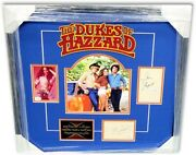 The Dukes Of Hazzard Cast Signed Autographed Framed Collage Back Wopat Jsa