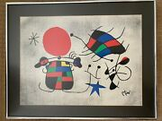 Joan Miro - The Smile Of The Flamboyant Wings. Original Vintage Lithograph