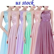Us Womens Formal Long Dress Wedding Bridesmaid Lace Evening Cocktail Party Dress