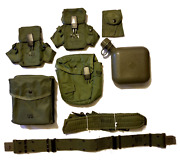 New Usgi Suspender Belt 2 Magazine 1 Saw And 1 Compass Pouch 2qt Canteen And Cover