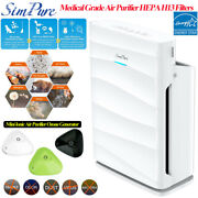 Air Purifier Large Room1500ft² With H13 True Hepa Filter Cleaner ozone Generator