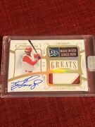 Ken Griffey Jr 2020 Flawless Laundry Tag Patch Auto Autograph 3/3
