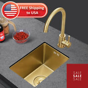 Kitchen Sinks Rose Gold 304 Stainless Steel Balcony Small Apartment Bar Counter