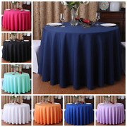 24 Colours Wedding Table Covers Tablecloths Polyester Tables Linen Round Tables