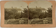 Kilburn Sweden Castle Gripsholm From The Hill Vintage Stereo Card Tirage A