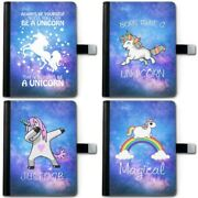 Unicorn Stars Galaxy Deluxe Pu Leather 360 Swivel Ipad Case Tablet Cover