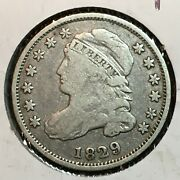 1829 Fine+ Capped Bust Dime Nice Coin 2