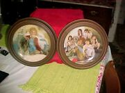 Vintage Knowles Signed 1982 And 84 Orphan Annie Framed Plates 1904c And 11218u