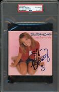 Britney Spears Signed Cd Cover, ...baby One More Time First Album Rare Psa