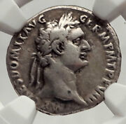 Domitian 88ad Rome Secular Games Authentic Ancient Silver Roman Coin Ngc I62475