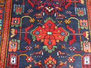 3and0393x16and0397 Blue Authentic Herizz Handmade Wool Oriental Antique Area Rug Runner