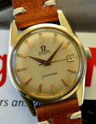 Vintage 1961 Omega Automatic Seamaster Watch Gold Cap Case Cal. 562 Serviced +++