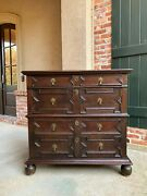 Antique English Oak Chest Of Drawers Jacobean Cabinet Commode Sofa Table
