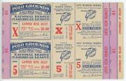 1951 New York Giants World Series Proof Sheet 2 Vip Tickets Dimaggio Mays Mantle