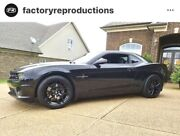 Fits 20 10 And 11 Z28 Staggered Gloss Black Wheels Rims For 5th Chevrolet Camaro