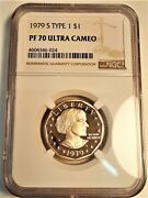 1979 S Susan B Anthony Dollar Ngc Pf 70 Ultra Cameo Perfect Condition