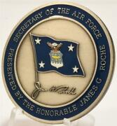 James Roche 20th Secretary Of The Air Force Secaf Usaf 2001-2005 Challenge Coin
