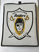 1960-62 Oakland Raiders Seat Cushion Gold Color I Am A Raider Rooter Very Rare