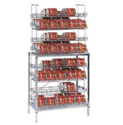 Amco Sm4-b - 10 Can Chrome Rack - Four Shelves - 120 Can Capacity - Front Load