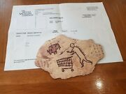 Banksy Peckham Rock Wooden Postcard Print Authentic From British Museum