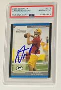 Aaron Rodgers Autographed 2005 Bowman Football Rookie Card Psa Dna Signed Auto