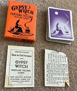 Gypsy Witch Fortune Telling Vintage Playing Cards Cauldron Black Cat Halloween