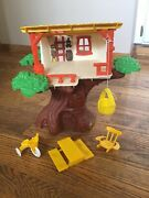 Vintage 1970's Weebles Tree House Playset - Hasbro - Missing Figures And Wench