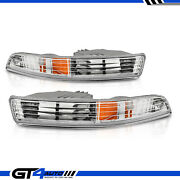 For 1994-1997 1995 1996 Acura Integra Amber Parking Signal Lights Bumper Lamps