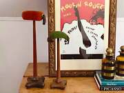 Vintage Tall Wooden Hat Stands | Dressing Room Decor | Retro Commercial Retail