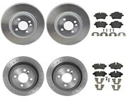 Brembo Front And Rear Xtra Brake Kit Disc Rotors Low-met Pads For Mini R55 R57 R58