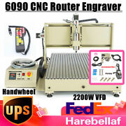 2200w Cnc 6090 Router Engraver Engraving Machine Remote Control Usb Drill+mill