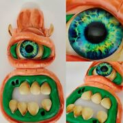5 Collectible Tobacco Smoking Glass Hand Pipe - 3d Evil Monster Face Character
