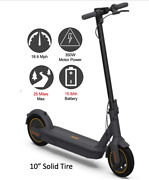 10 Solid Tire 350w Electric Scooter Adult Portable Full Range Up To 25 Miles