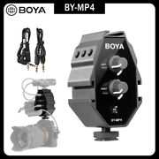 Boya By-mp4 2-channel Switch For Iphone 8 Canon Nikon Dslr Camera Sony Panasonic