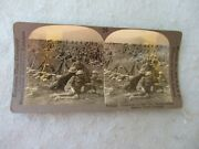 Wwi Stereoscope Card 89th Division Doughboys Photo Painted Helmets Moselle Ww1