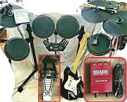 Ps4 Drums Rocker Ion Rock Band 4 Drums 3 Cymbals Rare Pedal Kit Guitar Dongle